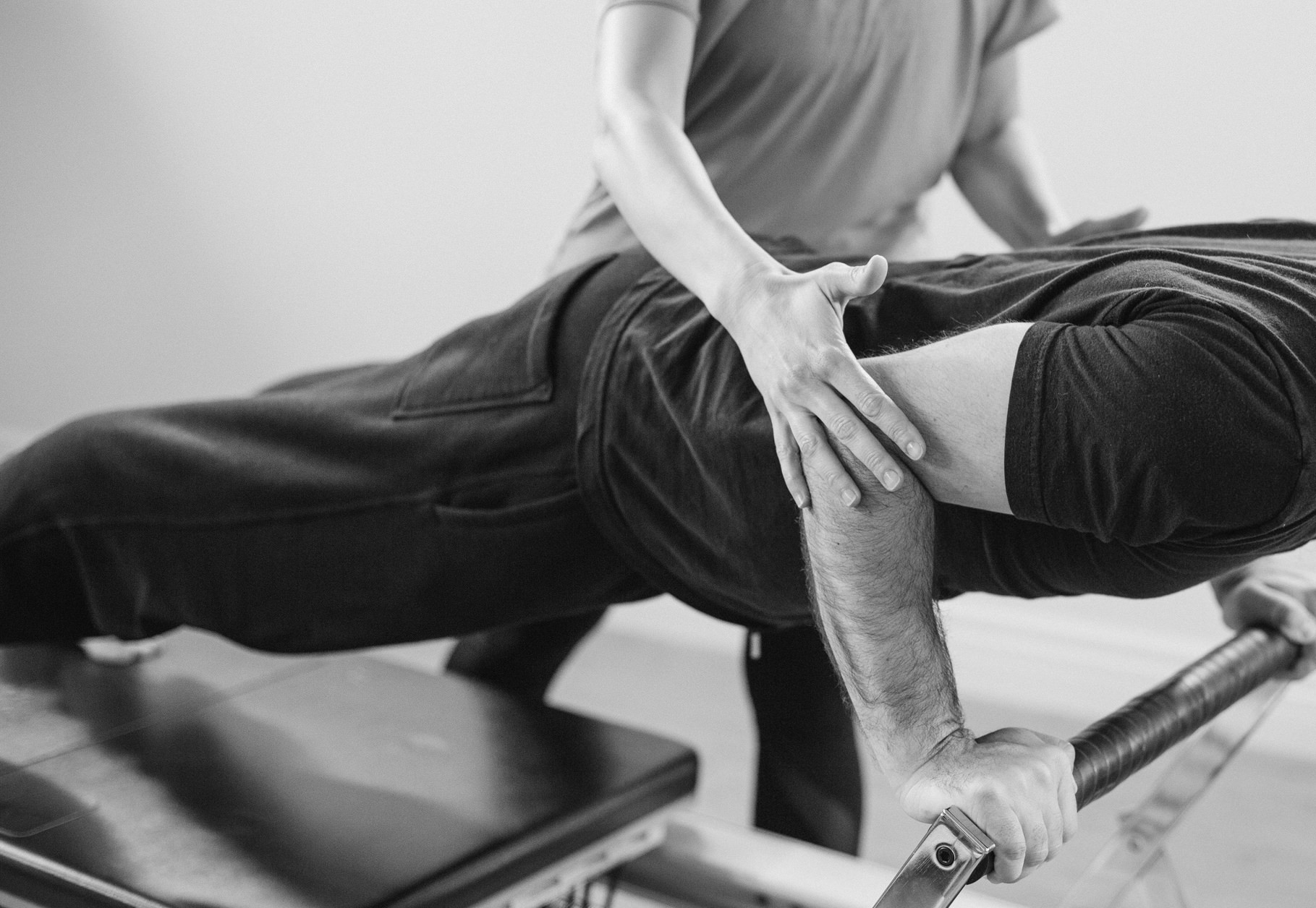 Private Pilates training sessions on the Reformer