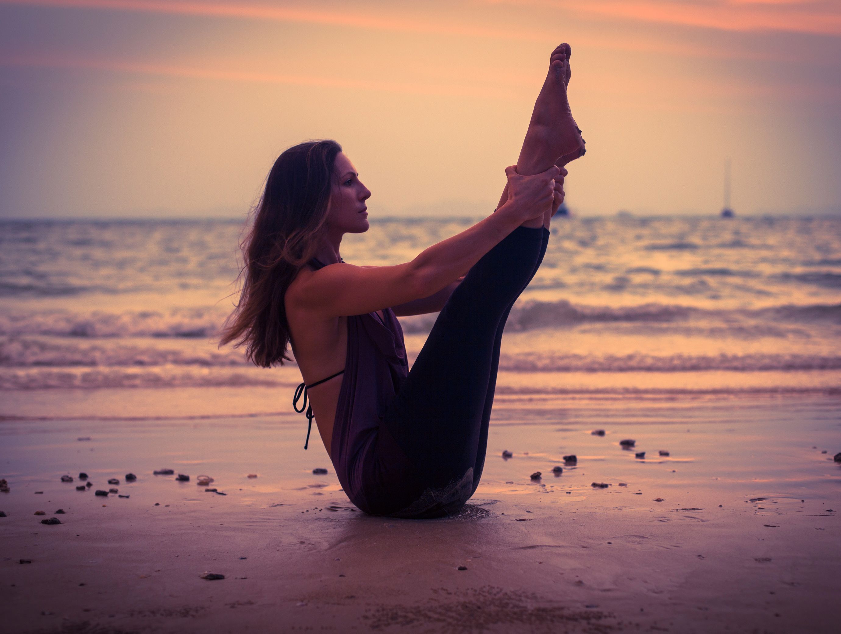 Pilates on the beach with Lisa Bender