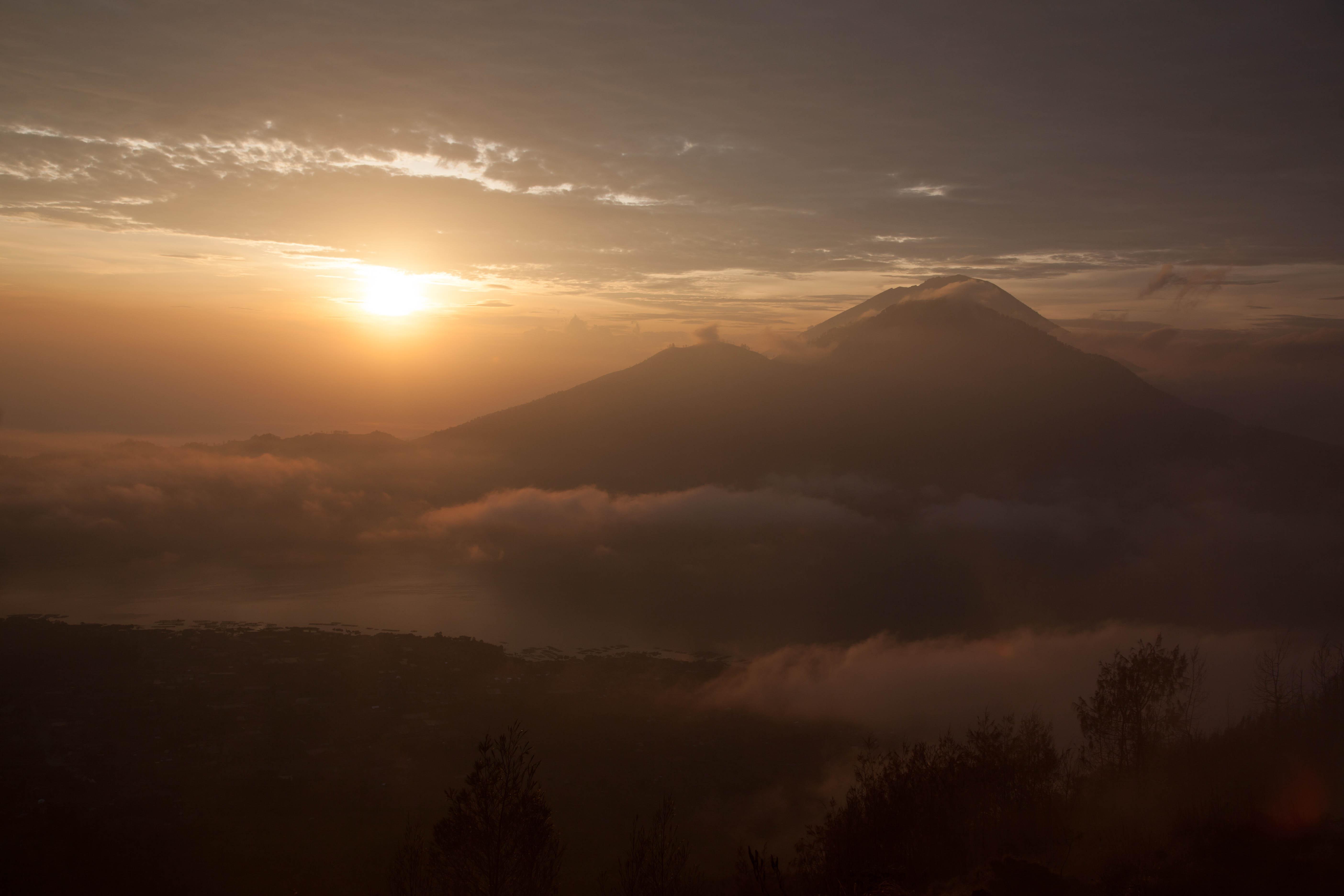 Serene Mountain top Bali Sunrise